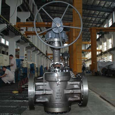 Expanding plug valve