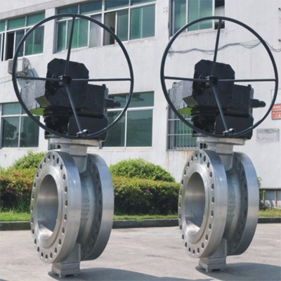 Double-offset butterfly valve