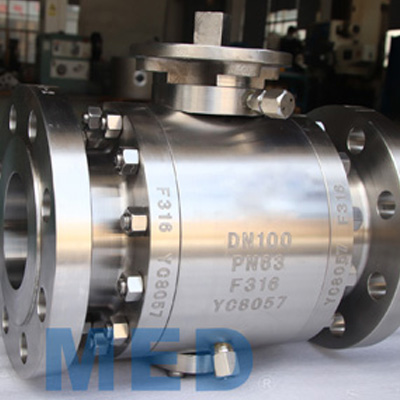 Trunnion Mounted Ball Valve, F51, DN100, PN63