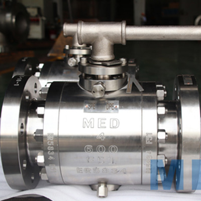 Trunnion Mounted Ball Valve, 4 Inch, CL600, RF, F51