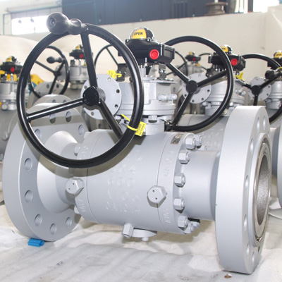 RTJ Trunnion Mounted Ball Valve, ASTM A105 6X4Inch
