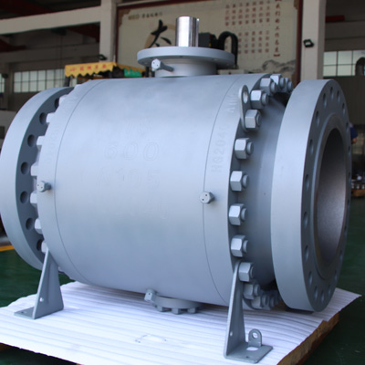 A105 Trunnion Mounted Ball Valve, 18 Inch, 600 LB, RTJ