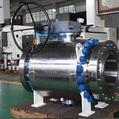 ASTM A105 Trunnion Mounted Ball Valve, 16 Inch