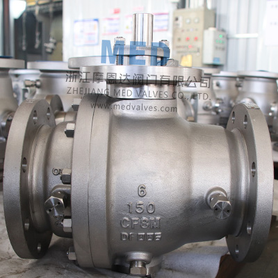 Trunnion Mounted Ball Valve, 6 Inch, CL150, RF, CF8M China Trunnion Mounted Bal